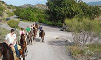 Spain Horse Riding Holiday Riding El Chorro Malaga Andalucia Spain Europe Horseback riding Holiday Spain